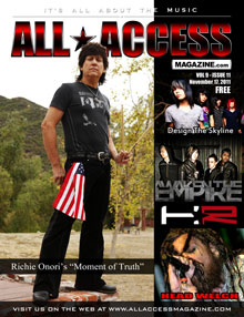 Richie is on the cover of All Access Magazine
