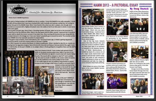 Richie Onori in Blues-E-News Magazine - pg. 62-63